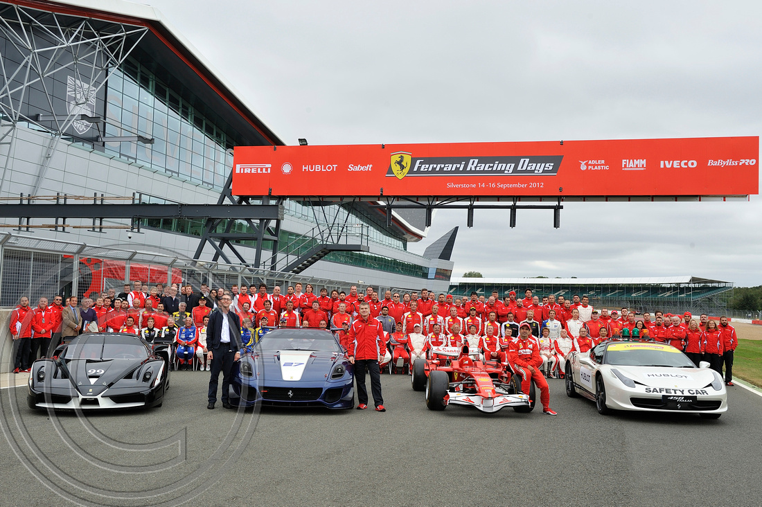 "2012, ""Charles Davis"", ""FELIPE MASSA"", ""FERRARI RACING DAYS"", ""LEADS A RECORD PARADE"", SILVERSTONE, www.professionalphotography.me.uk"