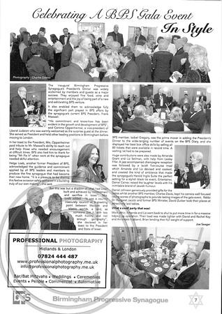 """""""BPS Bulletin"""" """"Presidents Inaugural Dinner"""" """"BPS"""" """"Charles Davis"""""""