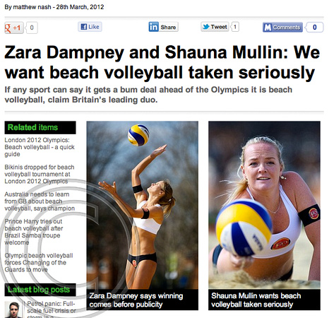 """Zara Dampney""  ""Shauna Mullin"" ""We want beach volleyball taken seriously"" ""GB Beach Volleyball"" ""Fordham Beer"""