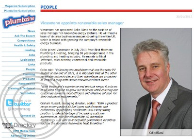 Viessmann, Plumbing & Heating Monthly, Colin Bland, Propel Technology