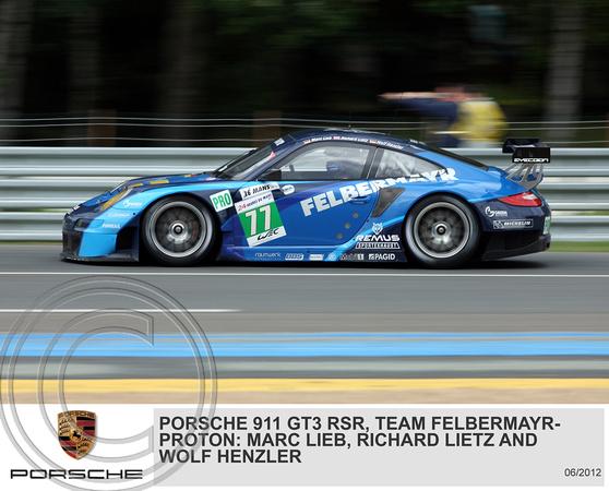 """Porsche 911 GT3 RSR"", ""Team Felbermayr-Proton"""