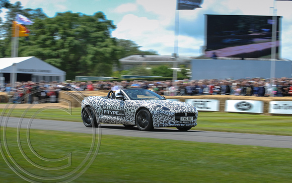 """JAGUAR"" ""F-TYPE DEVELOPMENT STEPS UP A GEAR ON GOODWOOD'S HILL"""