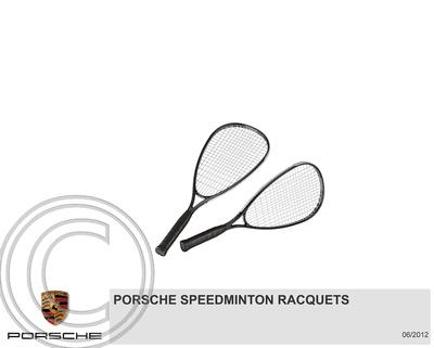 """Driver's Selection"" ""Porsche Design"" ""Speedminton racquets"""