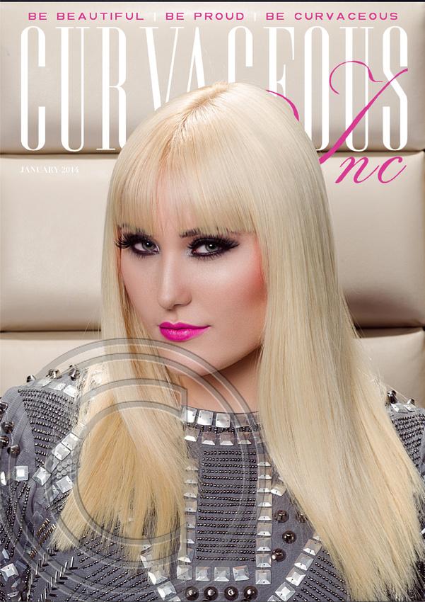 FRONT COVER - CURVACEOUS INC MAGAZINE - JAN 2014