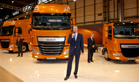 DAF's Chief Engineer, Ron Borsboom unveils New DAF Trucks at CV Show 2013