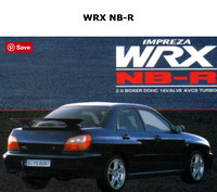 Original JDM WRX NB-R Brochure with Title