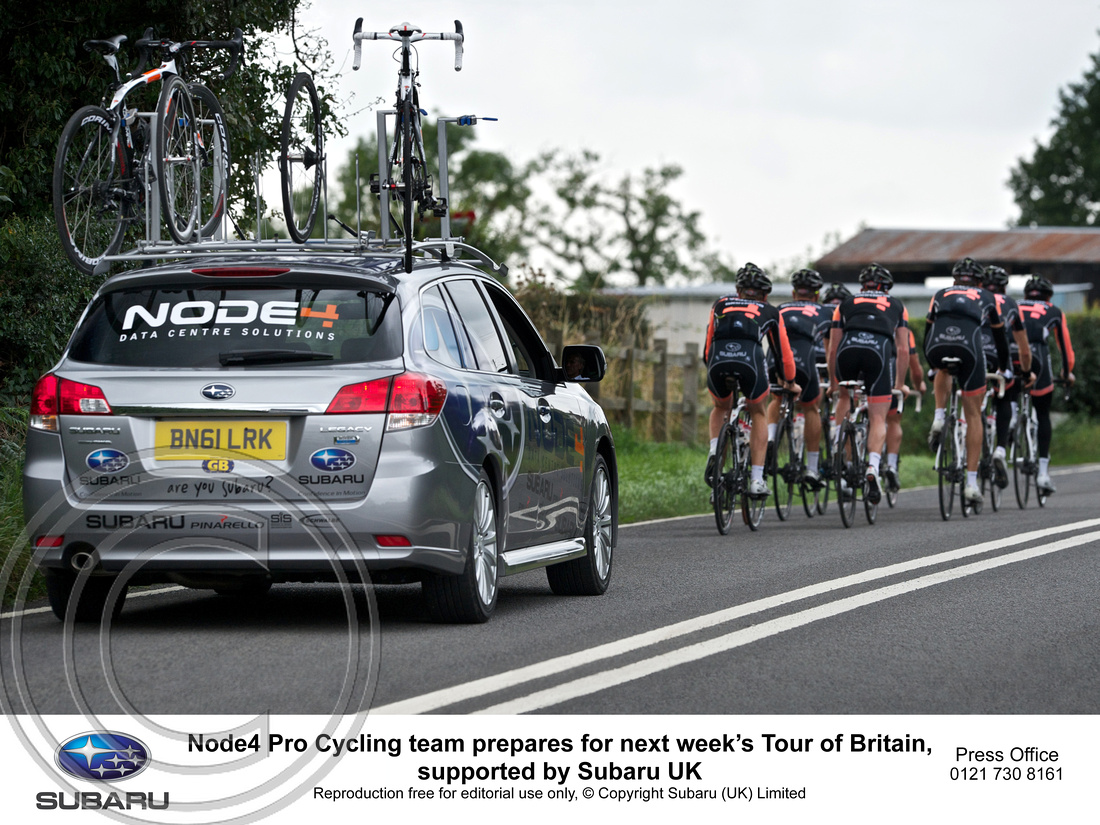 """NODE4 PRO CYCLING TEAM""  ""SUBARU"" ""ALL-WHEEL DRIVE SUPPORT"" ""TOUR OF BRITAIN"""