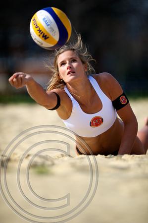 """GB Beach Volleyball"" ""Fordham Beer"" ""Zara Dampney"""