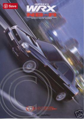 Original JDM WRX NB-R Brochure 2