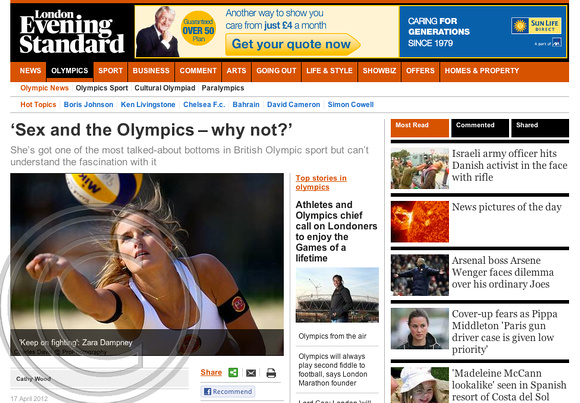 """GB Beach Volleyball"" ""Sex and the Olympics-why not?"" ""Zara Dampney"" ""Shauna Mullin"" ""Forham Beer"""