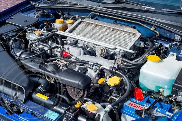 Engine Bay of Charles Davis' WRX NB-R