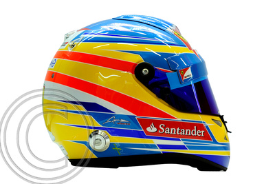 """Signed Fernando Alonso Helmet"""