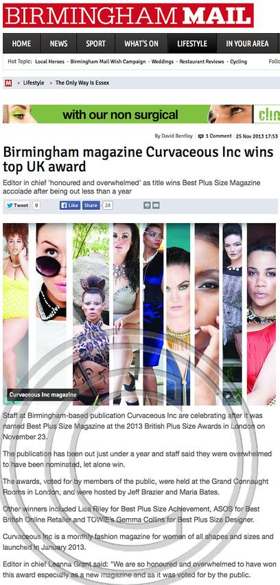 Birmingham Mail 25th Nov 2013