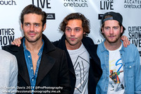 Spencer Matthews & Andy Jordan with Stevie Johnson