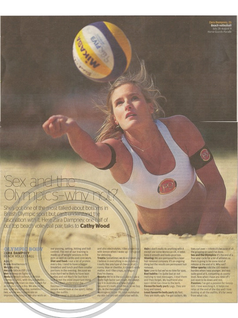 """GB Beach Volleyball"" ""Evening Standard"" ""Zara Dampney"""