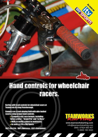 TEAMWORKS KARTFORCE - HAND CONTROLS FOR WHEELCHAIR RACERS